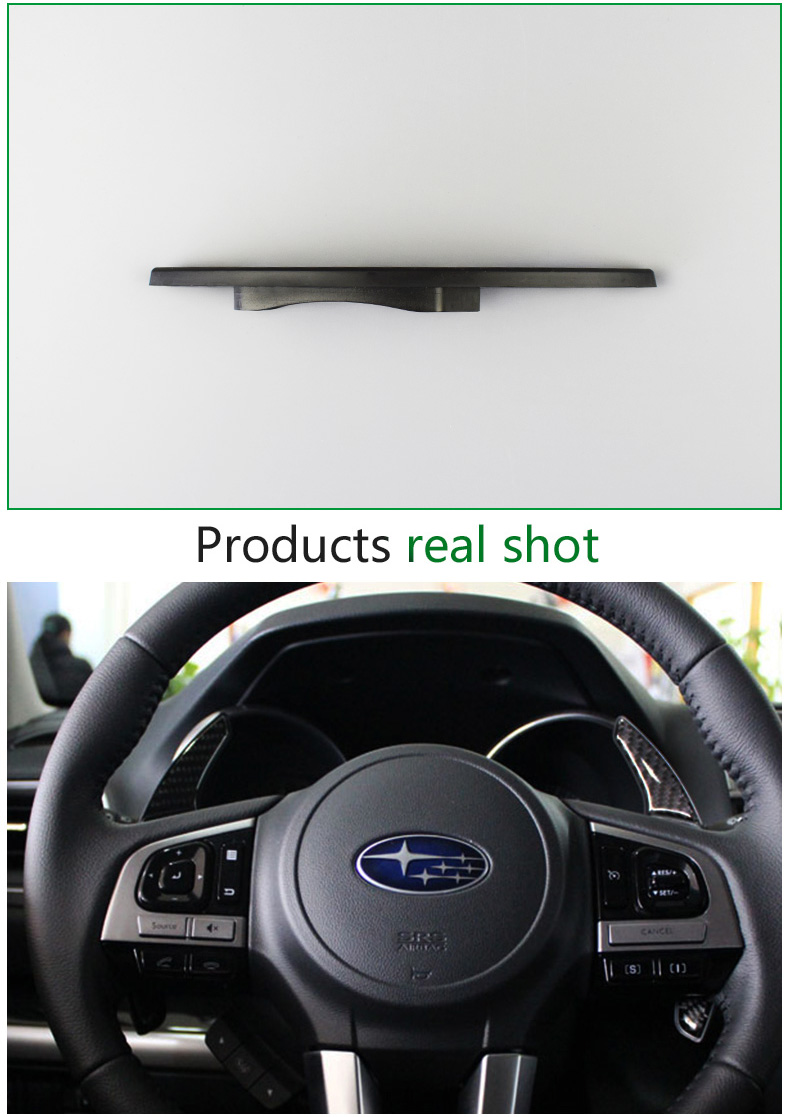 Airspeed Carbon Fiber Gear Shift Paddles Cover Car Accessories For